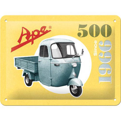 Ape - 500 Since 1966, APE Tin Sign 15 x 20cm