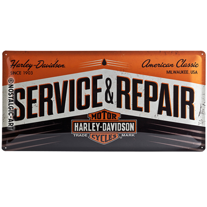 Harley-Davidson Service & Repair, Harley, Tin Sign 25 x 50cm