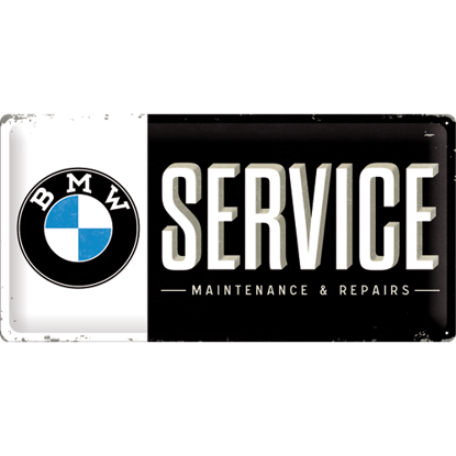 BMW - Service, BMW, Tin Sign 25 x 50cm