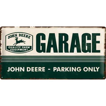 John Deere Garage, John Deere, Tin Sign 25 x 50cm