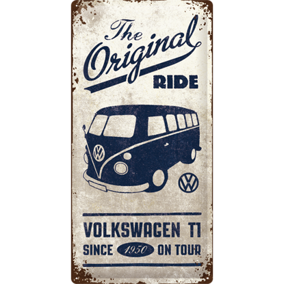 VW Bulli - The Original Ride, Volkswagen, Tin Sign 25 x 50cm