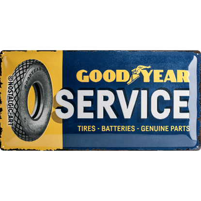 Goodyear - Service, Goodyear, Tin Sign 25 x 50cm