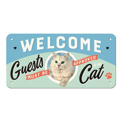 Welcome Guests Cat, Animal Club, Hanging Sign, 20x0x10 cm