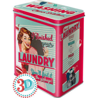 Finished Your Laundry, Say it 50's, Tin Box L, 14x20x10 cm