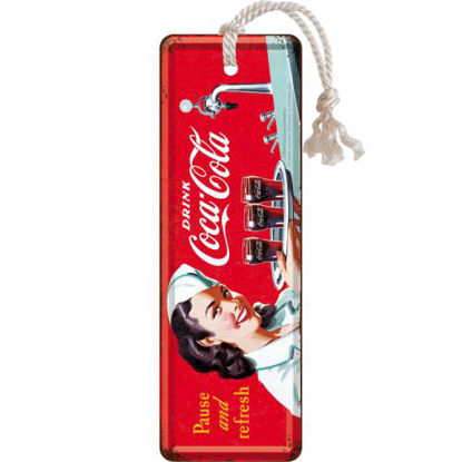 Coca-Cola - Waitress, Coca-Cola Metal Bookmark, 15x0x5 cm/A408