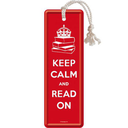 Keep Calm and Read On, Achtung Metal Bookmark, 15x0x5 cm/A408