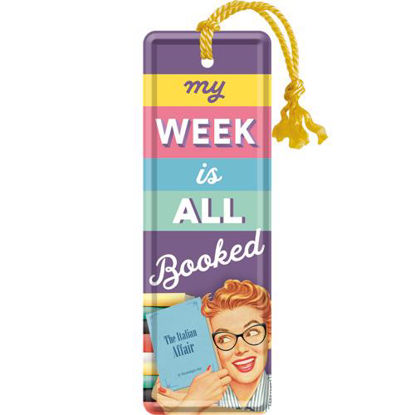 My Week Is All Booked, Say it 50'sMetal Bookmark, 15x0x5 cm/A408
