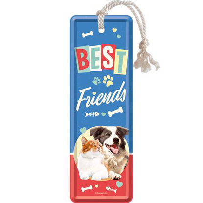 Best Friends Cat & Dog, Animal Club Metal Bookmark, 15x0x5 cm/A408