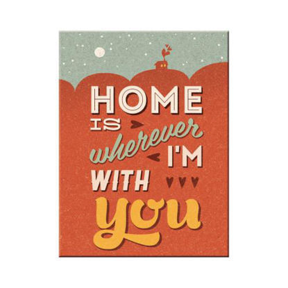 Home is Wherever I'm With You, Word UpMagnet, 8x0x6 cm/A401