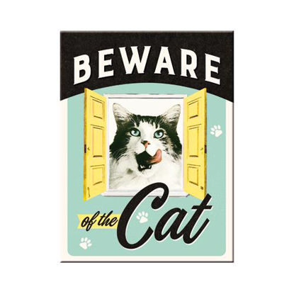 Beware of the Cat, Animal Club Magnet, 8x0x6 cm/A401