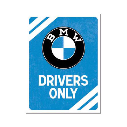 BMW - Drivers Only Blue, BMW Magnet, 8x0x6 cm/A401