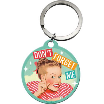 Don't Forget me, Say it 50'sKey Chain Round, 4x0x4 cm/A410