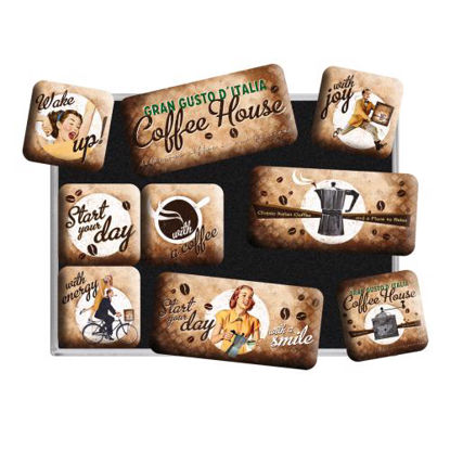 Coffee House, Coffee & Chocolate, Magnet Set (9pcs), 9x2x7 cm/A413