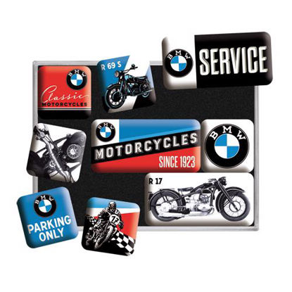BMW - Motorcycles, BMW, Magnet Set (9pcs), 9x2x7 cm/A413