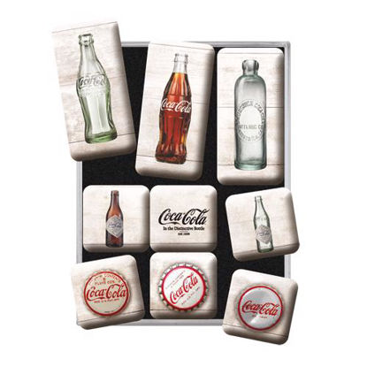 Coca-Cola - Bottle Timeline, Coca-Cola, Magnet Set (9pcs), 9x2x7 cm/A413