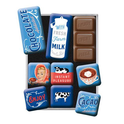 Chocolate Addicted, Say it 50's, Magnet Set (9pcs), 9x2x7 cm/A413