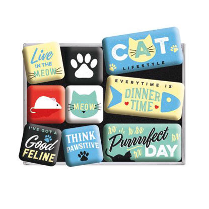 Cat Lifestyle, Animal Club, Magnet Set (9pcs), 9x2x7 cm/A413
