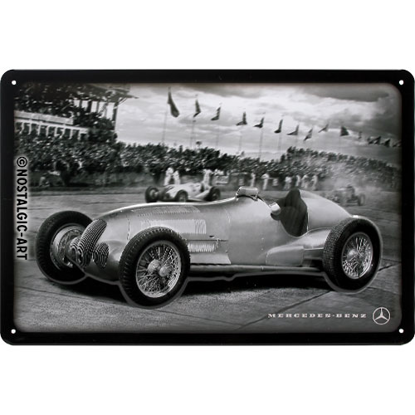 Mercedes-Benz - Silver Arrow Racing Phot, Tin Sign 20 x 30cm/A402