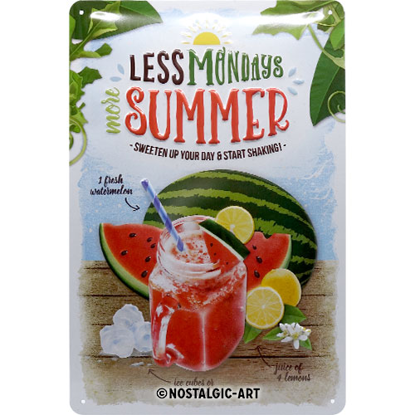 Watermelon Summer Shake, Home & Country, Tin Sign 20 x 30cm/A402