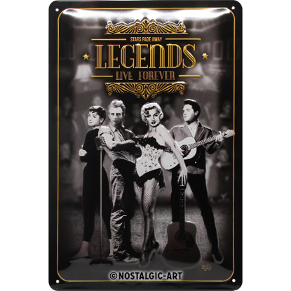 Legends Live Forever, Celebrities, Tin Sign 20 x 30cm/A402