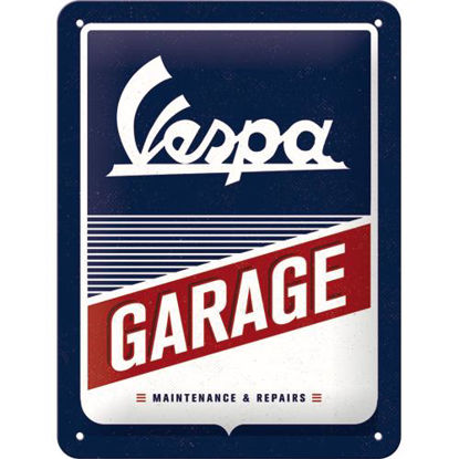 Vespa - Garage, Vespa Tin Sign 15 x 20cm