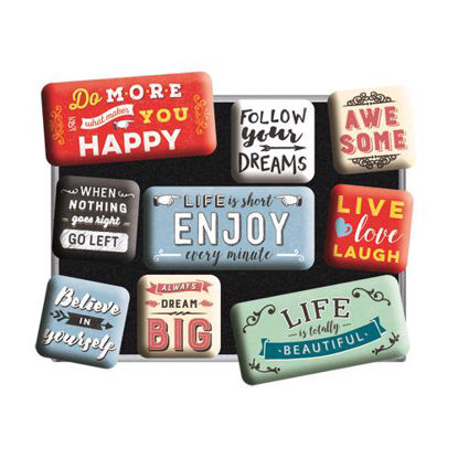 Enjoy Life, Word Up, Magnet Set (9pcs), 9x2x7 cm/A413