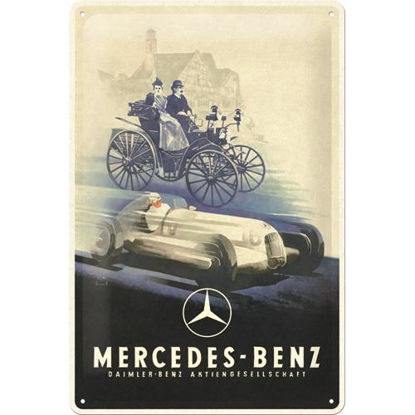 Mercedes-Benz - Silver Arrow Historic Tin Sign 20 x 30, Mercedes-Benz, A402