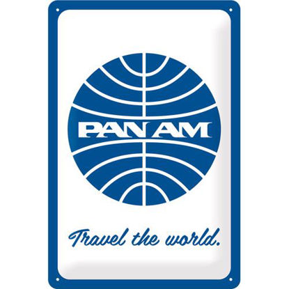 Pan Am - Travel the world Tin Sign 20 x 30, Pan Am, A402