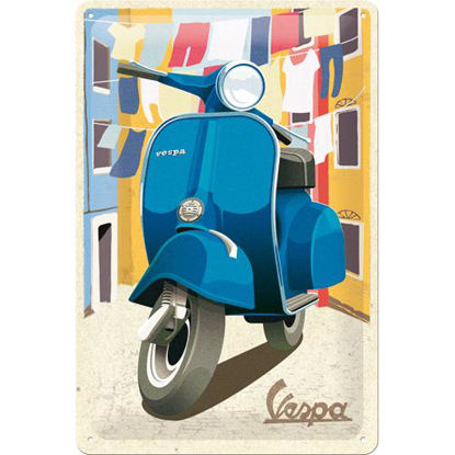 Vespa - Italian Laundry Tin Sign 20 x 30, Vespa, A402