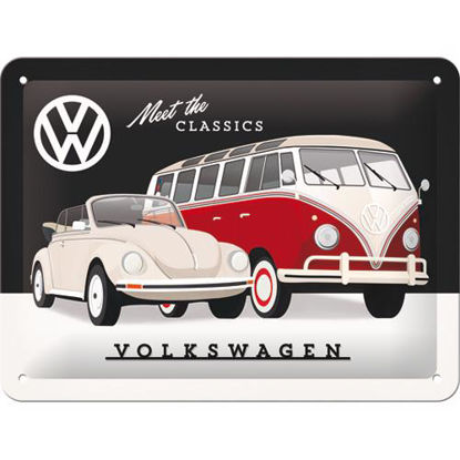 VW - Meet The Classics Tin Sign 15 x 20, Volkswagen