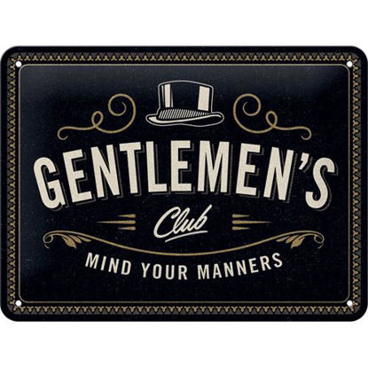 Gentlemen's Club Tin Sign 15 x 20, Achtung