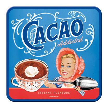 Cacao Addicted Metal Coaster, Say it 50's, A409