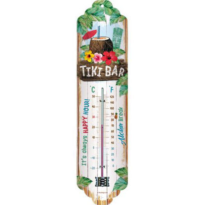 Tiki Bar Thermometer, Open Bar, A411