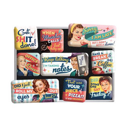 Office Fun,   Magnet-Set, Say it 50's, A413