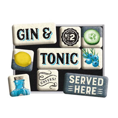 Gin & Tonic Served Here,   Magnet-Set, Open Bar, A413