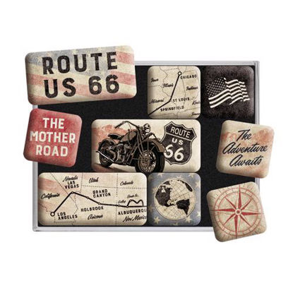 Route 66 Bike Map,   Magnet-Set, US Highways, A413