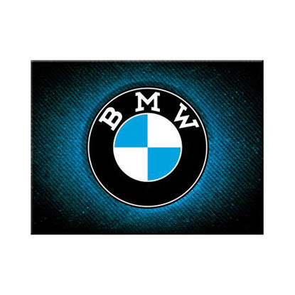 BMW - Logo Blue Shine Magnet   , BMW, A401