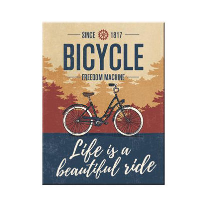 Bicycle - Beautiful Ride Magnet   , Achtung, A401