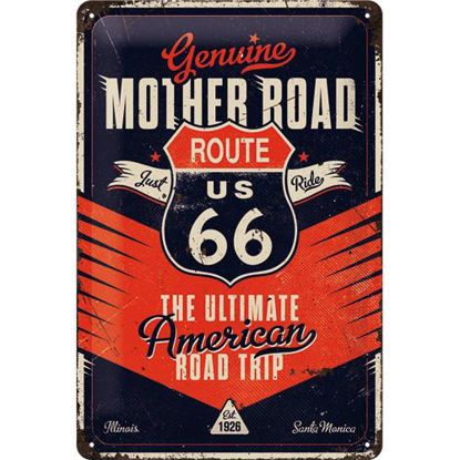 Route 66 The Ultimate Road Trip Tin Sign 20 x 30, US Highways, A402