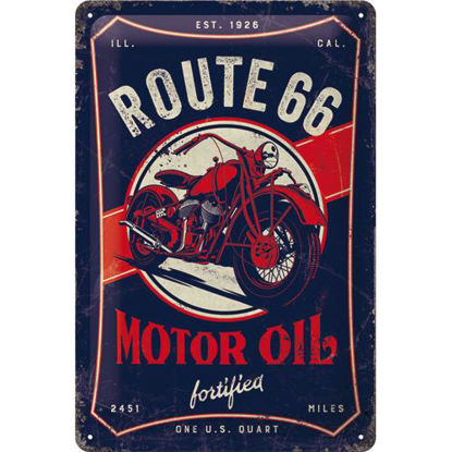 Route 66 Motor Oil Tin Sign 20 x 30, US Highways, A402