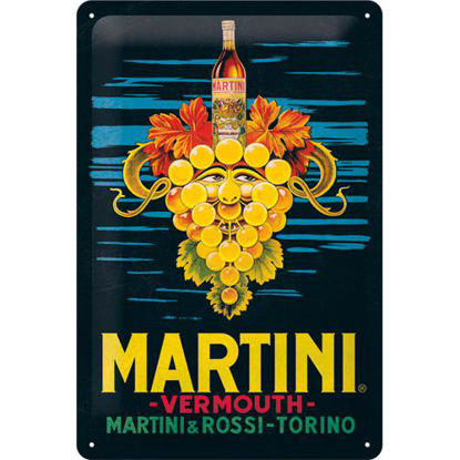 Martini - Vermouth Grapes Tin Sign 20 x 30, Martini, A402