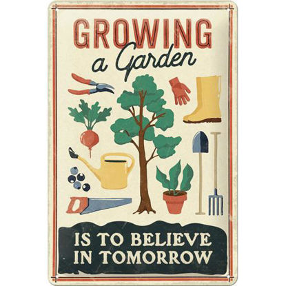 Growing a Garden Tin Sign 20 x 30, Outdoor & Activities