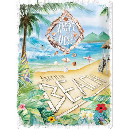Happiness is a day at the beach Tin Sign 30 x 40, Outdoor & Activities
