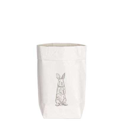 Paperbags Small weiss, HASE STEHEND, taupe