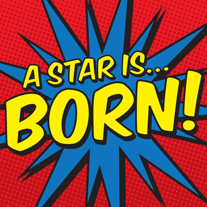 A Star is Born!, Comic Doppelkarte quadratisch 14.5 x 14.5 cm m
