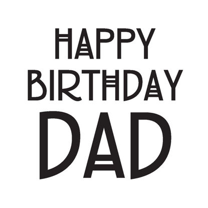 Happy birthday dad Doppelkarte quadratisch 14.5 x 14.5 cm m