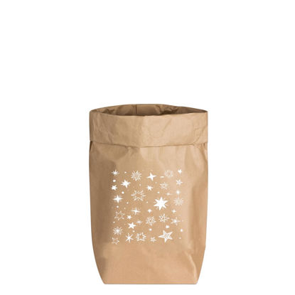 Paperbags Small natur, STERNE, weiss, 1730 - HOME - PSW