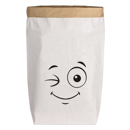 Paperbags Large weiss, SMILIE, schwarz