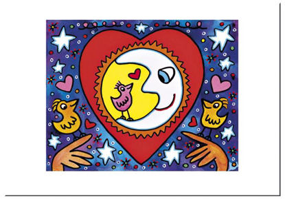 "James Rizzi Postkarte ""When love is in t, 16.5x11.5x0.1cm"