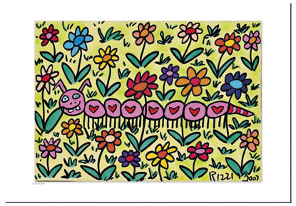 "James Rizzi Postkarten ""Take a walk of l, 16.5x11.5x0.1cm"